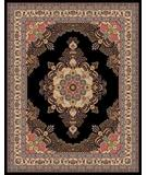 RugStudio presents Moren Rugs Emerald Firuze G18 black Machine Woven, Best Quality Area Rug