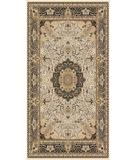 RugStudio presents Moren Rugs Isparta Tabriz 871 Beige-black Machine Woven, Best Quality Area Rug