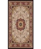 RugStudio presents Moren Rugs Isparta Tabriz 871 Beige-Burgundy Machine Woven, Best Quality Area Rug