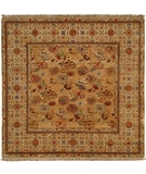 RugStudio presents Natures Loom Asia Hotan Medium Gold/Creme Hand-Knotted, Good Quality Area Rug