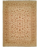 RugStudio presents Natures Loom Asia Amana Creme/Medium Gold Hand-Knotted, Good Quality Area Rug
