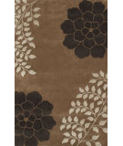 RugStudio presents Noble House Gardenia Gar-5702 Brown Hand-Tufted, Good Quality Area Rug