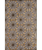 RugStudio presents Noble House Amber Amb-701 Grey / Gold / Green Hand-Tufted, Good Quality Area Rug