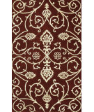 RugStudio presents Noble House Amber Amb-705 Burgundy / Gold Hand-Tufted, Good Quality Area Rug