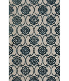 RugStudio presents Noble House Amber Amb-706 Beige / Blue Hand-Tufted, Good Quality Area Rug