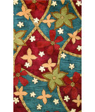 RugStudio presents Noble House Avalon Ava-201 Blue / Burgundy Hand-Tufted, Better Quality Area Rug