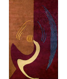 RugStudio presents Noble House Bengal Ben-301 Burgundy / Brown Hand-Tufted, Better Quality Area Rug