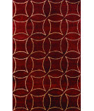 RugStudio presents Noble House Elegant Ele-602 Burgundy / Gold Hand-Tufted, Best Quality Area Rug