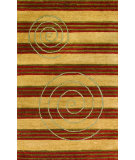 RugStudio presents Noble House Elegant Ele-604 Gold / Rust Hand-Tufted, Best Quality Area Rug
