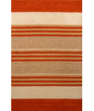 RugStudio presents Noble House Fantasy Fan-1303 Rust / Ivory Area Rug