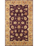 RugStudio presents Noble House Golden Gold-801 Burgundy / Gold Hand-Tufted, Best Quality Area Rug