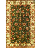 RugStudio presents Noble House Golden Gold-803 Dark Green / Beige Hand-Tufted, Best Quality Area Rug