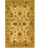RugStudio presents Noble House Golden Gold-804 Beige / Light Green Hand-Tufted, Best Quality Area Rug