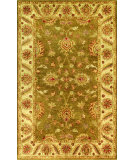 RugStudio presents Noble House Golden Gold-806 Green / Beige Hand-Tufted, Best Quality Area Rug