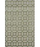 RugStudio presents Noble House Indigo Ind-5003 Cream / Green Hand-Tufted, Good Quality Area Rug