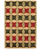 RugStudio presents Noble House Legacy Leg-1504 Rust / Green / Gold Hand-Knotted, Best Quality Area Rug