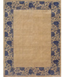 RugStudio presents Noble House Mario 109 Beige-Blue Hand-Knotted, Good Quality Area Rug