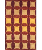 RugStudio presents Noble House Nepal 1-Hs Nh-2 Gold-Burgundy Hand-Knotted, Good Quality Area Rug