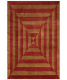 RugStudio presents Noble House Noble Nob-1703 Gold / Rust Hand-Knotted, Best Quality Area Rug
