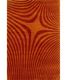 RugStudio presents Noble House Pioneer 38 Rust-Red Hand-Knotted, Good Quality Area Rug
