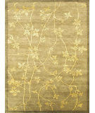 RugStudio presents Noble House Regency 55 Green Hand-Knotted, Good Quality Area Rug