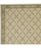 RugStudio presents Nourison Chateau Provence No01 Ivory Green Machine Woven, Good Quality Area Rug