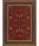 RugStudio presents Nourison Arcadia AA-06 Red Machine Woven, Better Quality Area Rug