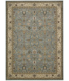 RugStudio presents Kathy Ireland Antiquities Ant04 Slate Blue Machine Woven, Good Quality Area Rug