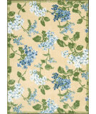 RugStudio presents Nourison Waverly Aura Flora Aof11 Golden Machine Woven, Good Quality Area Rug