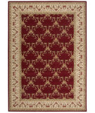 RugStudio presents Rugstudio Sample Sale 22892R Burgundy Machine Woven, Best Quality Area Rug