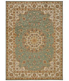 RugStudio presents Kathy Ireland Ki12 Babylon Bab02 Teal Machine Woven, Good Quality Area Rug