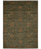 RugStudio presents Kathy Ireland Ki12 Babylon Bab05 Teal Machine Woven, Good Quality Area Rug