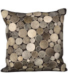 RugStudio presents Nourison Pillows Natural Leather Hide C2300 Silver