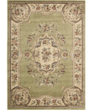 RugStudio presents Nourison Chateau Cht01 Light Green Machine Woven, Good Quality Area Rug