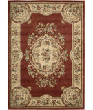 RugStudio presents Nourison Chateau Cht01 Rust Machine Woven, Good Quality Area Rug