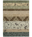 RugStudio presents Nourison Contour CON-10 Green Hand-Tufted, Better Quality Area Rug