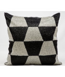RugStudio presents Kathy Ireland Pillows E2916 Black - Silver