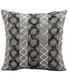 RugStudio presents Kathy Ireland Pillows E2927 Black - Silver