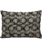 RugStudio presents Kathy Ireland Pillows E2928 Black - Silver