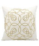 RugStudio presents Kathy Ireland Pillows E2929 White Gold