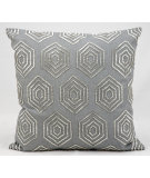 RugStudio presents Kathy Ireland Pillows E2931 Grey Silver