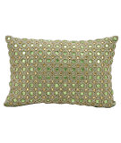 RugStudio presents Kathy Ireland Pillows E4152 Green