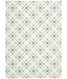 RugStudio presents Nourison Enhance En005 Ivory Turquoise Machine Woven, Good Quality Area Rug