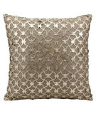 RugStudio presents Nourison Pillows Laser Cut Es016 Gold Beige