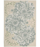 RugStudio presents Nourison Fantasy FA-10 Light Green Hand-Hooked Area Rug