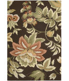 RugStudio presents Nourison Fantasy FA-11 Chocolate Hand-Hooked Area Rug