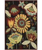 RugStudio presents Nourison Fantasy FA-12 Black Hand-Hooked Area Rug
