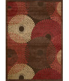RugStudio presents Nourison Graphic Illusions GIL-04 Brown Machine Woven, Good Quality Area Rug