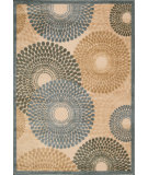 RugStudio presents Nourison Graphic Illusions GIL-04 Teal Machine Woven, Good Quality Area Rug