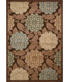 RugStudio presents Nourison Graphic Illusions GIL-13 Brown Machine Woven, Good Quality Area Rug
